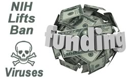 NIH lifts funding ban on deadly viruses